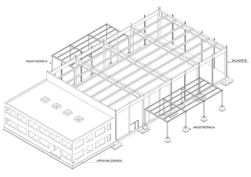 Upravna zgrada, skladišna zgrada i čelične nadstrešnice_PALCO doo